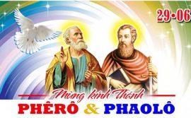 MẠNH MẼ KIÊN CƯỜNG NHƯ HAI THÁNH TÔNG ĐỒ PHÊRÔ VÀ PHAOLÔ