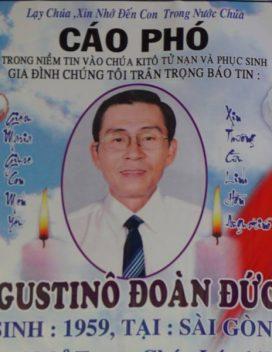 CÁO PHÓ: Augustino Đoàn Đức Khánh