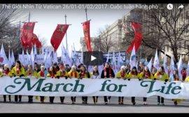 Video: Thế Giới Nhìn Từ Vatican 26/01-01/02/2017: Cuộc tuần hành phò sự sống lớn nhất hành tinh