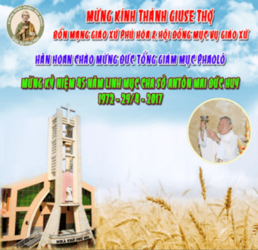 Thông báo: Thánh lễ Mừng Bổn Mạng Giáo Xứ và Kỷ Niệm Thụ Phong Linh Mục