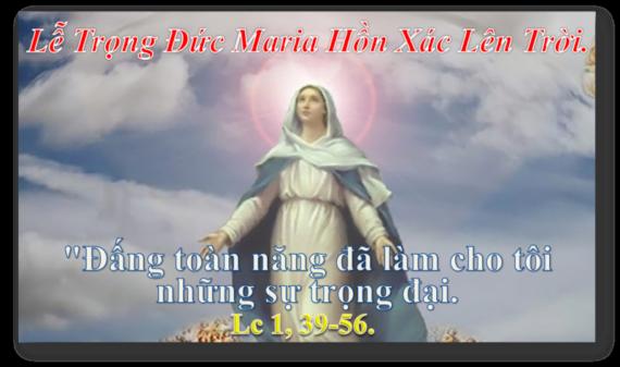 [Audio Thánh Lễ] Kính Đức Maria Hồn Xác Lên Trời