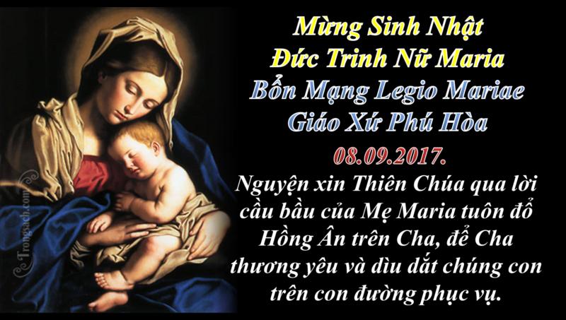 [Audio Thánh Lễ] Thứ Sáu Sau Chúa Nhật XXII TN-A Lễ Kính Sinh Nhật Đức Trinh Nữ Maria Bổn Mạng Legio Mariae Gx. Phú Hòa.