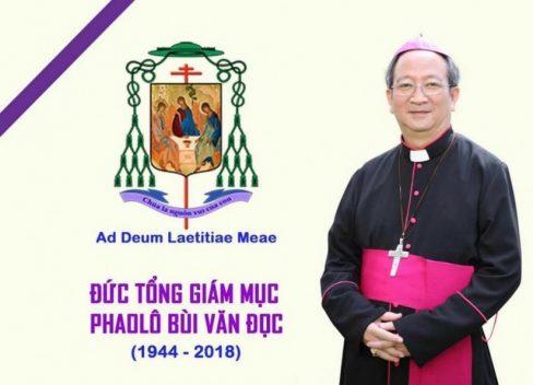 Chương trình lễ tang chính thức của Đức tổng Giám mục Phaolô Bùi Văn Đọc