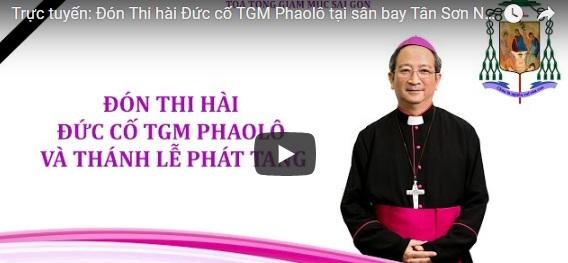 Đón Thi hài Đức cố TGM Phaolô tại sân bay Tân Sơn Nhất và Thánh lễ Phát tang