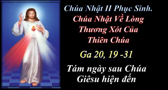 [AUDIO THÁNH LỄ] CHÚA NHẬT II PHỤC SINH CHÚA NHẬT VỀ LÒNG CHÚA THƯƠNG XÓT NĂM B THÁNH LỄ THIẾU NHI.