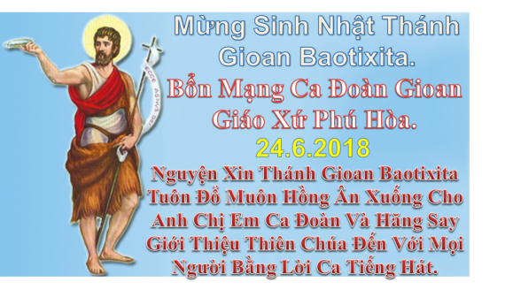 [AUDIO THÁNH LỄ] CHÚA NHẬT XII THƯỜNG NIÊN LỄ TRỌNG SINH NHẬT THÁNH GIOAN TẨY GIẢ NĂM B THÁNH LỄ CHIỀU