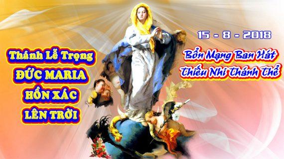 Thông báo: Thánh lễ Đức Mẹ Hồn Xác Lên Trời